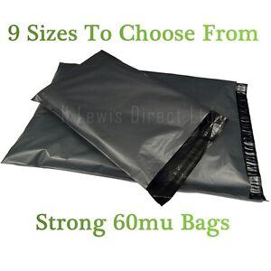 "2000 x GREY Mailing Postal Bags 250 x 350mm 10/"" x 14/"""