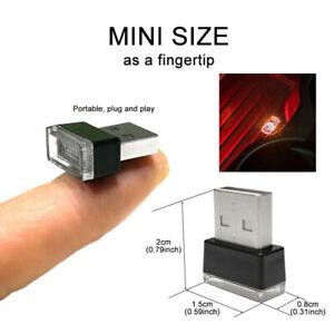 Мини-USB-красный светодиодный ночник автомобиль авто интерьер неоновый атмосферы окружающего лампа