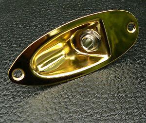 Loaded-Gold-1-4-034-Mono-Jack-Socket-Plate-fits-Fender-Stratocaster-Strat-guitar
