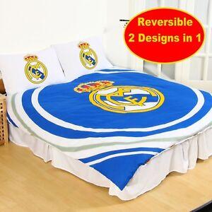 Offiziell Real Madrid Fußballverein Doppel Bettdecke Bettbezug Set