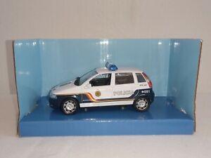 Cararama-Policia-Nacional-Fiat-Punto-VEH-CULO-DE-DIECAST-ESCALA-1-43