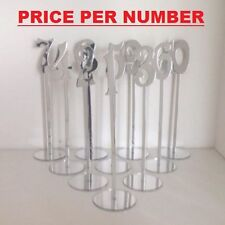 Freestanding Mirrored Acrylic Wedding Table Numbers  Balloon Weights (CTO51)