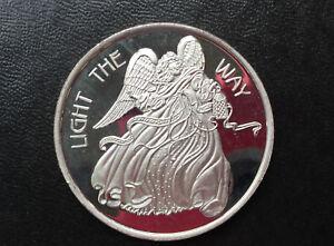 2007-SilverTowne-Light-the-Way-Angel-Holiday-Season-Silver-Art-Medal-P2444