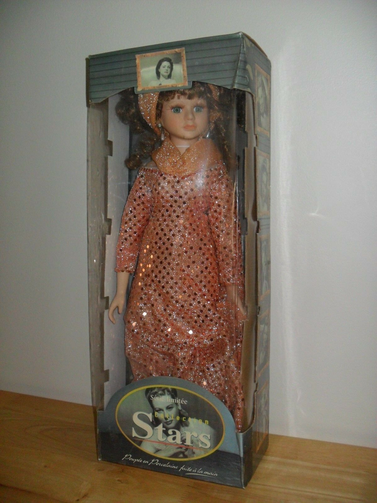 Rare Vintage porcelain doll Stars collection made by hand limited edition French
