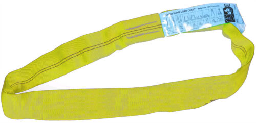 Yellow Double Pack 1m Circumference 2 x 3Tonne Round Slings 0.5M