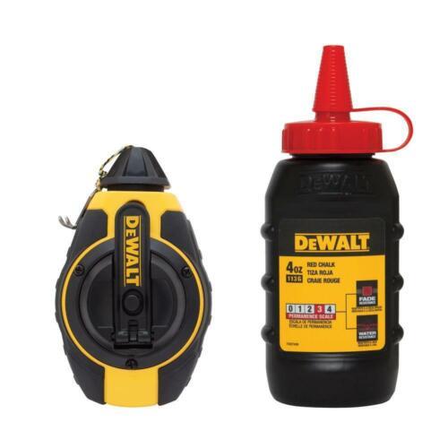 DeWalt 3:1 Chalk Line Measuring Reel avec Red chalk DWHT 47374 L
