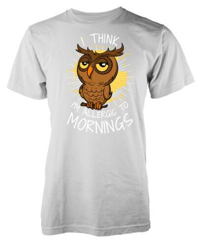 Owl I Think Im Allergic to Mornings Kids T Shirt