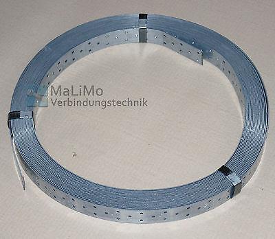 MaLiMo Windrispenband Rispenband 10 Meter, 25 Meter oder 50 Meter Rolle verzinkt