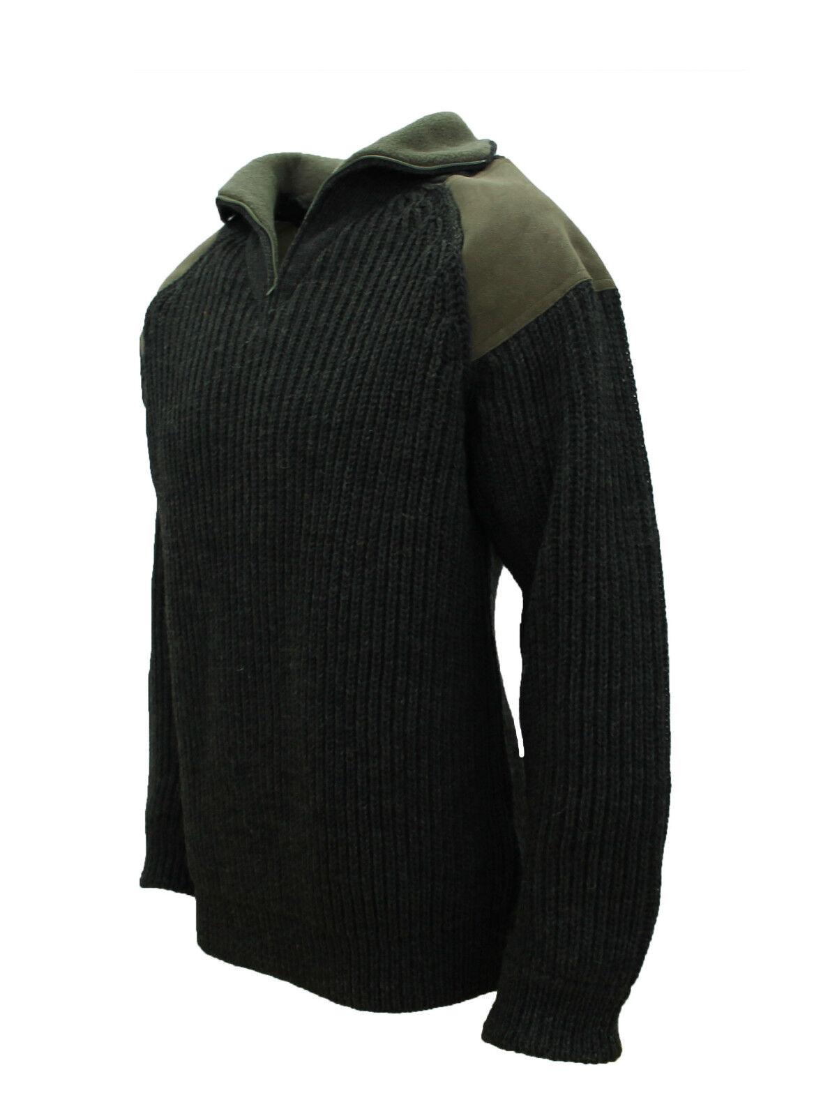 100% British Wool, Zip Collar Country Jumper, fleece collar, Chunky,