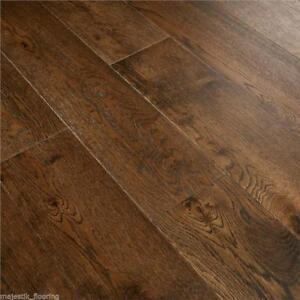 Image Is Loading Engineered Oak Veneered Wood Flooring Brushed Coffee 15