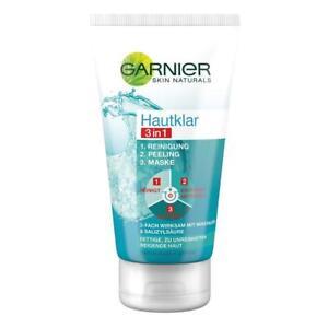 GARNIER-Hautklar-3in1-Gesichtsreinigung-Peeling-Gesichtsmaske
