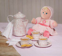 Crow Canyon Home Enamelware Mini Tea Set Childrens Cups Child Coffee Pot