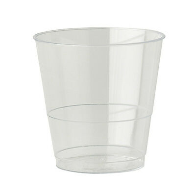 40 x Clear Plastic Cups 8oz Mixer Glasses Disposable