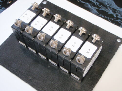 PANEL BREAKER AC DC EP-BRK-6 WITH SIX BREAKERS 50-13161 30 AMP WHITE BOAT PANEL