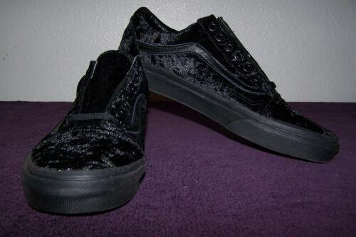 Nwob 190284886664 5 Skaters Sweet Women s Old Skool velvet Vans Black Size  black 5 4OSvWq 8709bc5dd