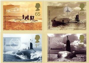 GB POSTCARDS PHQ CARDS MINT FULL SET 2001 SUBMARINES PACK 230