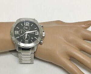 Details About New Fossil Silver Tone Stainless Steel Chronograph Bracelet Watch Bq2182