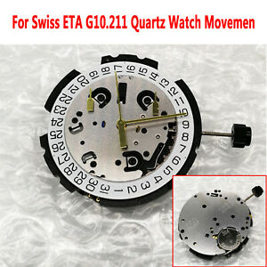 Swiss-ETA-G10-211-Quartz-Movement-Movimento-al-quarzo-6-Pin-Data-a-4-039-Orologio