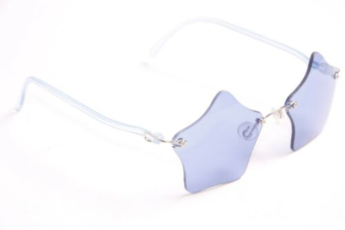 s267 Cool Ladies Hip Artsy Chic Trendy 90/'s Retro Star Dark Blue Glasses