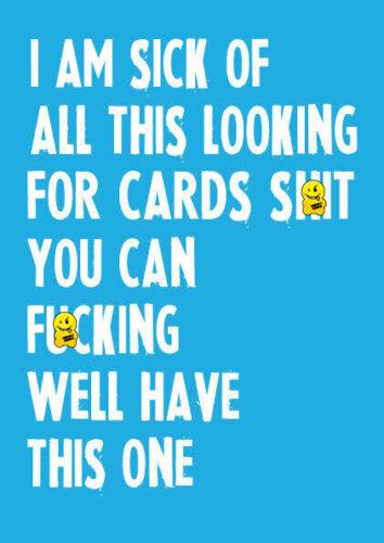 HAPPY BIRTHDAY GREETING CARD RUDE FUNNY OFFENSIVE BOYFRIEND GIRLFRIEND C5