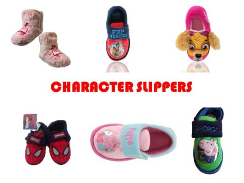 CHILDRENS BOYS GIRLS NON// CHARACTER SLIPPERS CLOSED SHOE SLIPPER HOUSE SHOES
