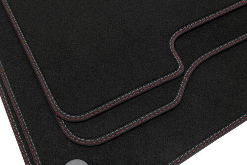 S205 ab Bj Doppelziernaht Fußmatten für Mercedes C-Klasse W205 2014