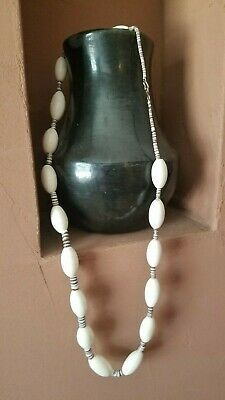 Antique White Trade Beads Necklace Native American Indian Ebay