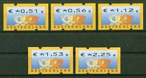 Bund-ATM-4-1-VS-2-sauber-postfrisch-Automatenmarken-BRD-Posthorn-MNH