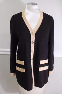 St-John-Collection-santana-brown-beige-trim-jacket-size-8-JO100
