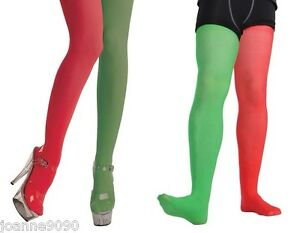 New adults halloween fancy dress costume accessory red green jester