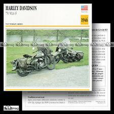 #001.14 HARLEY-DAVIDSON WLA 750 MODEL 45 Fiche Moto Military Motorcycle Card