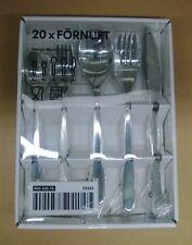 20pc Ikea Fornuft Flatware Silverware Set, Spoon Fork Knife, New in box