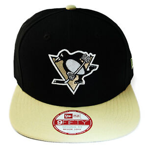 6af252ae683 New Era NHL Pittsburgh Penguins Classic Snapback Hat 2Tone Color Cap ...