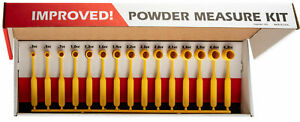 Lee-Powder-Measure-Kit-w-15-Uniformly-Graduated-Dippers-Yellow-90100