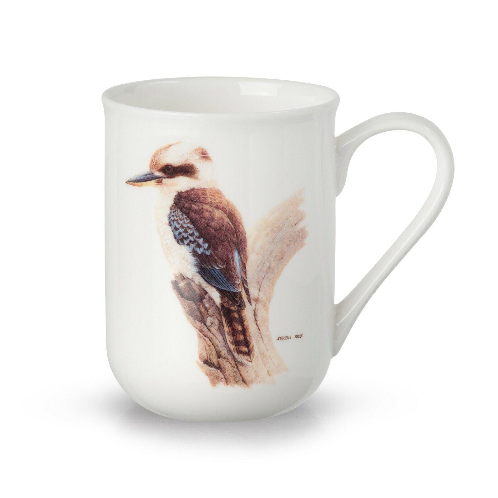 JEREMY BOOT BIRDS OF AUSTRALIA FINE BONE CHINA  SCARED KINGFISHER CUP