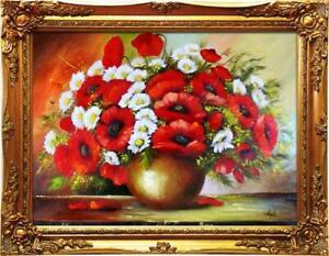 100% Vrai Peinture à L'huile Baroque Images Tableau Ölbild Cadre Photo G01260