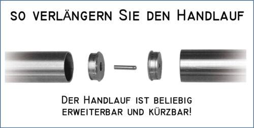 Edelstahl Handlaufset V2A Länge = 1500mm