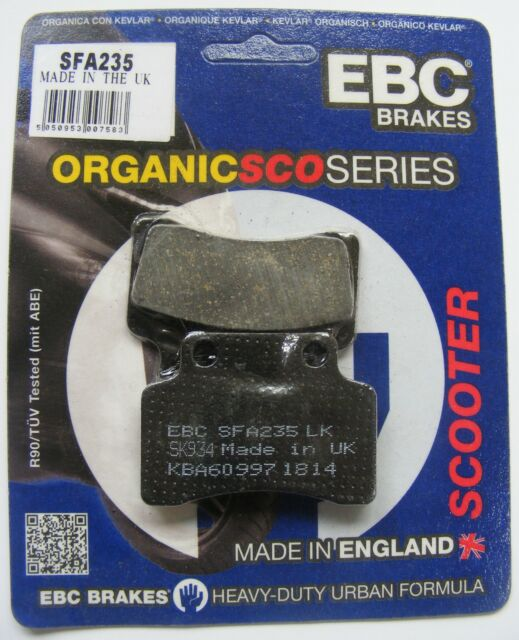 KSR Toxic 50 Sport (2012 to 2015) EBC Organic FRONT Disc Brake Pads (SFA235)