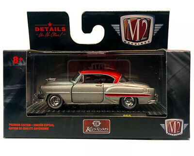 M2 Machines 1:64 Auto-Shows 59-1954 CHEVY BEL AIR KUSTOMS SILVER