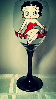 Betty Boop Wine Glass Gift Cult geek chic vintage pin-up Birthday gift