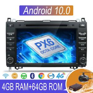 4GB+64GB Android 10.0 Autoradio DVD GPS Navi HDMI Für Benz A/B Klasse W169 W639