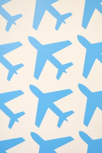 Various Colours /& Sizes Aeroplane Vinyl Wall Art Decals//Stickers