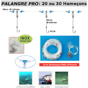 Longline PRO 20 or 30 hooks FLASHMER   Pro longline with 20 gold 30 hooks