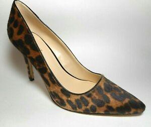 Size 8M Brown Faux Fur Leopard Print