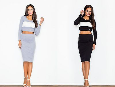 High Quality Two Piece Set By Fashion By Duda Skirt And Crop Top (369)