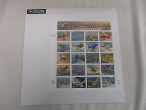SHEET-US-POSTAGE-STAMPS-CLASSIC-AMERICAN-AIRCRAFT-SEALED-MINT-FULL-PANE