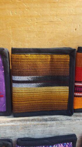 Bi folded unisex huipil guatemala wallet BAG hand embroider many colors