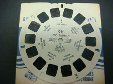Sawyer's Viewmaster Reel,1948,Zoo Animals II USA Elephant India Kodiak Bear #911
