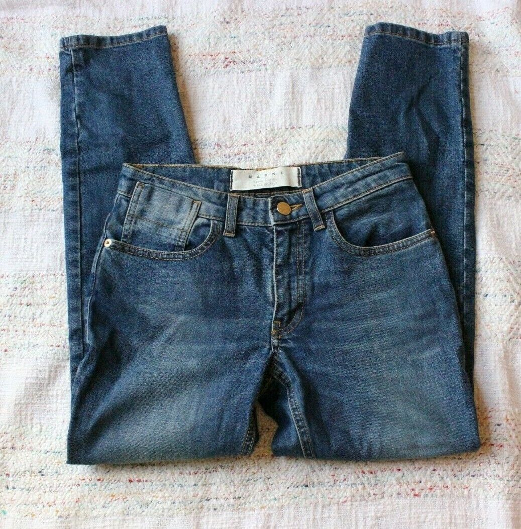 Marni Denim Edition bluee Bootcut Ankle Jeans Size 23