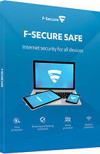 F-Secure Safe Internet Security 2017 3 Devices PCs 1 Year Licence Activation Key